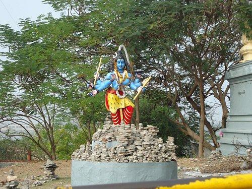Lord Shiva statue inside Veerabhadra swami temple