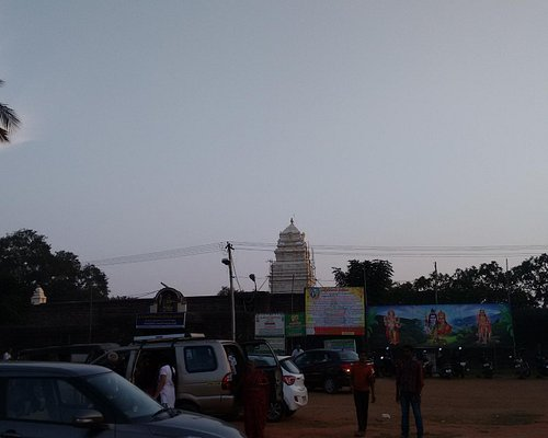 Temple view from parking area