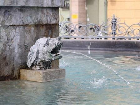Wasserspeier am Brunnen