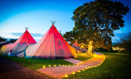 Tipis in grounds