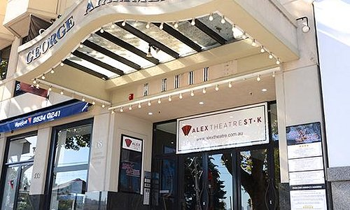 The entrance from Fitzroy Street at Alex Theatre St Kilda