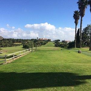 view from the 18th tee