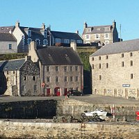 Portsoy Pottery in the building to the right