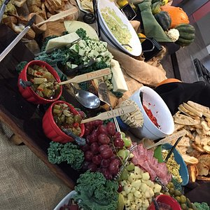An amazing spread was provided by the vendors during a reception.