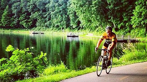 Riding Kensington Metropark in the Hometown Bicycles kit
