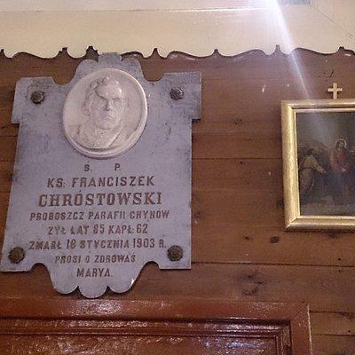 plaque honouring Chrostowski