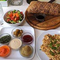 a part of breakfast menu