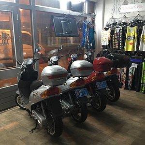Scooter rental gift shop