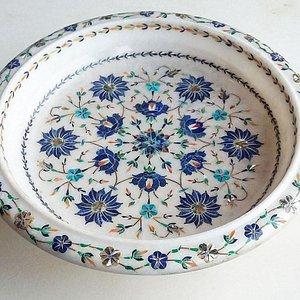Plate Marble Art