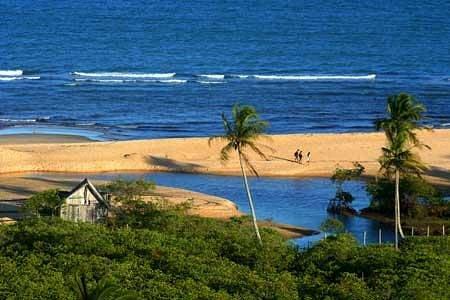 Praia dos Nativos-vista do quadrado TRANCOSO