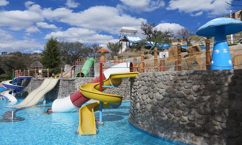 Another view of the water slides