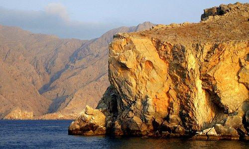 Musandam - the golden rock