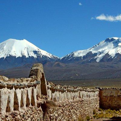 Volcán Parinacota y Volcán Pomerape