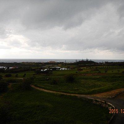 リフトからの景色、天気が良ければなぁ…。