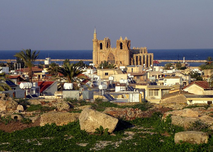 View from the walls of Famagusta to Lala-Mustafa-Pascha Mosque