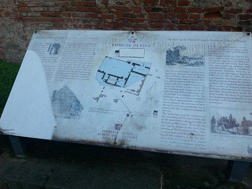la tabella del sito archeologico