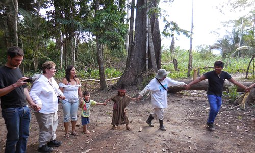 Dancing with indigenous people