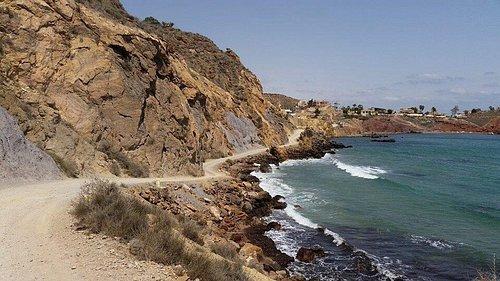 Coast along Bolnuevo, Murcia Spain.