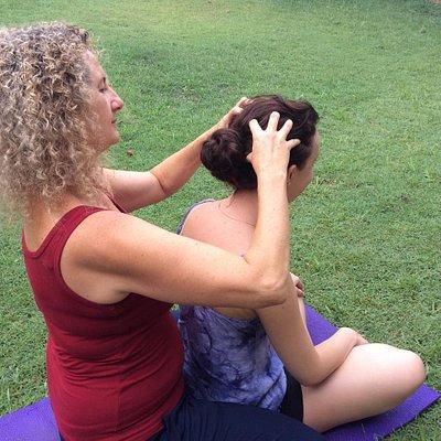 Lovely head massage