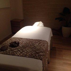 La sala massaggio