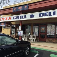 Ouside view of Sima's Grill and Deli