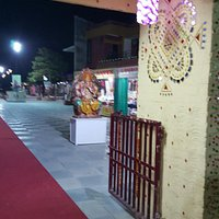 the god idol at the entrance