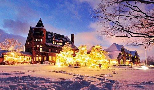 Belhurst Castle in the Winter - Geneva, NY