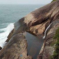 Visão da cachoeira