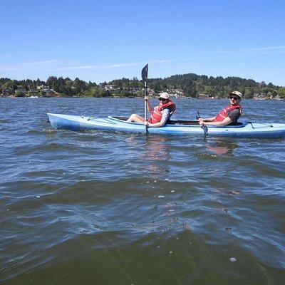 Kids on the lake!