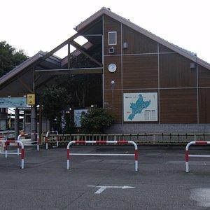 道の駅長門峡の外観(長門峡側駐車場から)