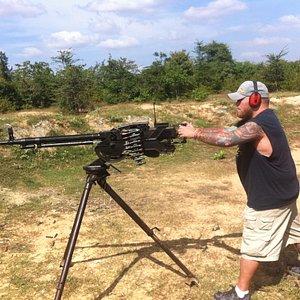 50 caliber Cambodia shooting range Phnom Penh