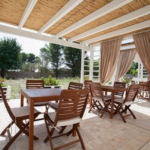 Breakfast Terrace at the B&B Nonna Maria