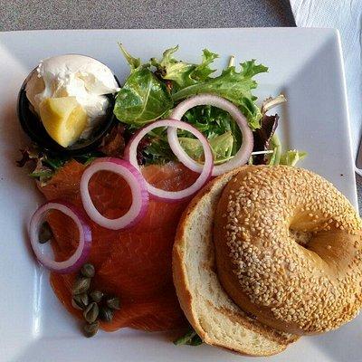 Smoked Salmon brunch menu