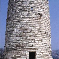 The Chimarros Tower at Filoti on Naxos is a significant ancient monument.