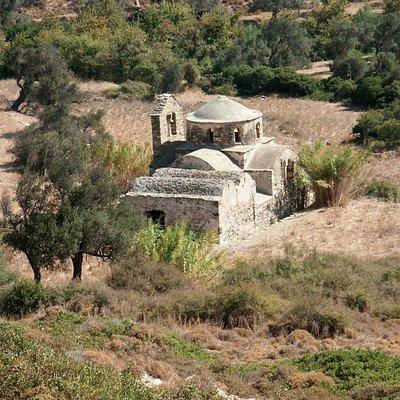 The 10th-century chapel of Agios Mamas, patron saint of shepherds, also known as Theoskepasti.