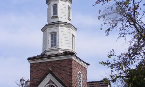 A small replica of the Old North Church - one if by land two if by sea!