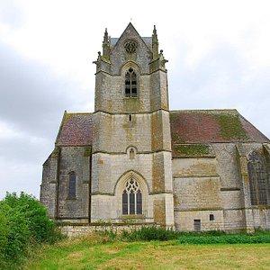Prieuré de Sainte Gauburge, seen from the village.