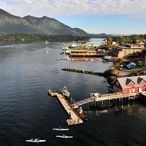 Remote Passages' boathouse Tofino, BC.   Best thing to do in Tofino is go kayaking to the rainforest