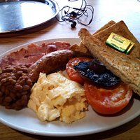 This is their fantastic big breakfast for £8.60. I highly recommend their baked beans that they