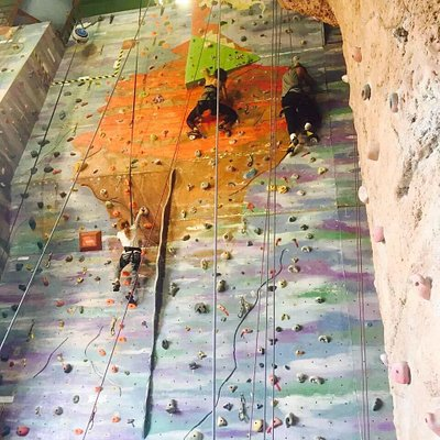 There are so many different levels rock climbing. At the entrance side, when you climbing to the