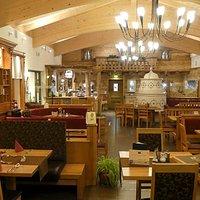 Blick in das Restaurant Kleblmühle