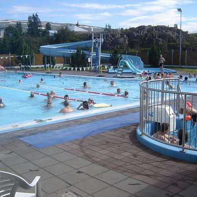 The pool on a sunny day