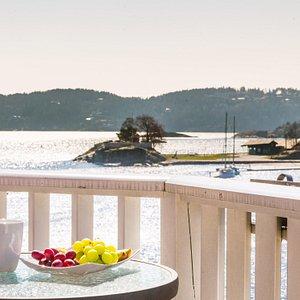 utsikt fra Victoria Hotel på Gunnarsholmen