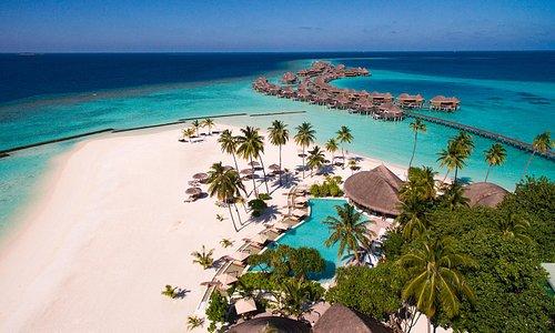 Halaveli Maldives aerial view