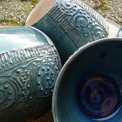 Ceramic and lampwork glass artist