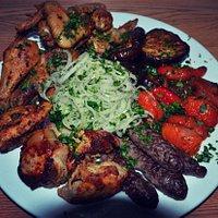 """Заказали """"Мясное ассорти"""", очень порадовало количество мяса, правильность приготовления и подача"""