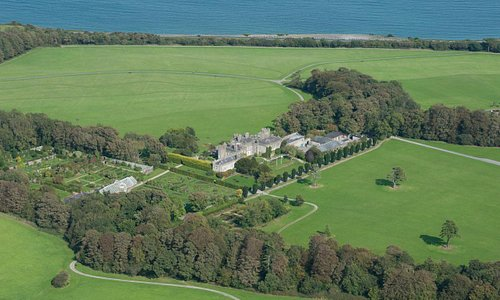 View of the Demesne with the Irish Sea in the background