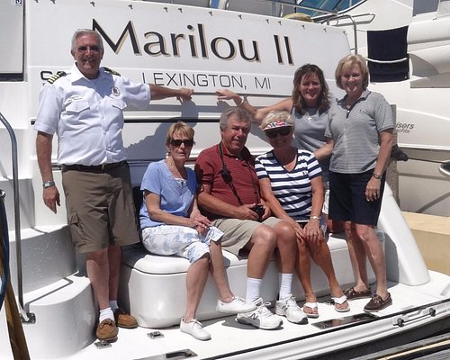 A great day on Lake Huron with Captain Shel aboard the MarilouII
