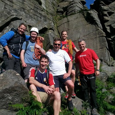 Group Climb at Stanage Edge - Summer 2015