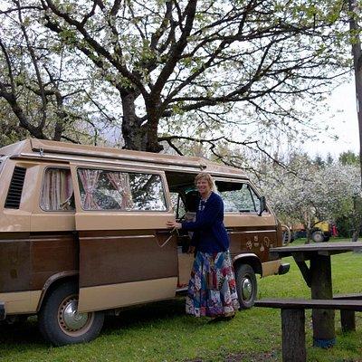Camping El Chacra in El Bolson: kamperen in een bloeiende boomgaard!
